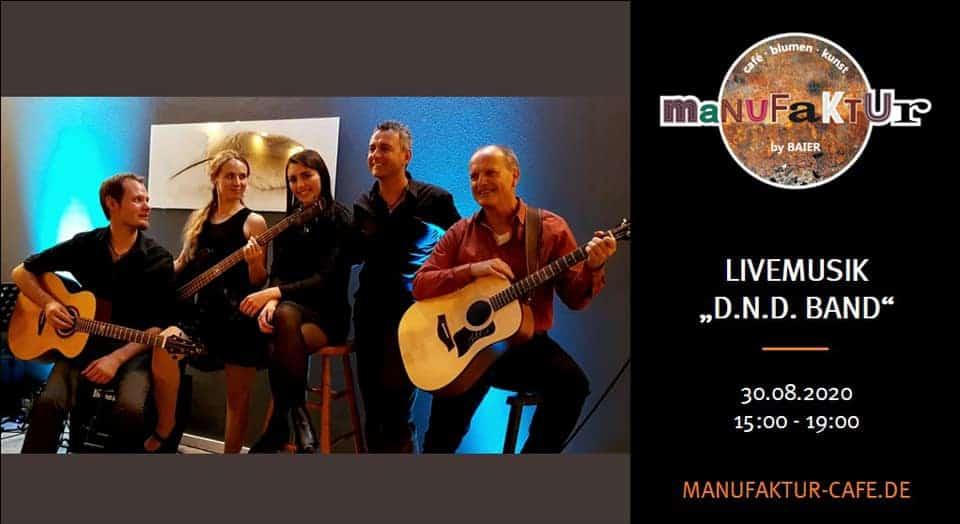 Live-Auftritt in der Manufaktur am 30.08.2020